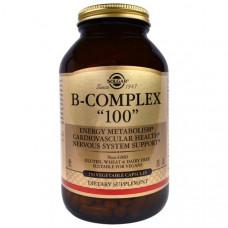 Solgar, B-комплекс 100, 250 растительных капсул