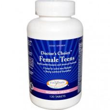 Мультивитамины и микроэлементы для ежедневного приема для девушек Enzymatic Therapy  120 таблеток