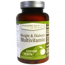 Мультивитамин против проблем с весом и для диабетиков FoodScience  90 капсуловидных таблеток