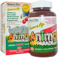 Мультивитамины и минералы для детей Natures Plus Источник жизни Шествие  с натуральным вкусом вишни 180