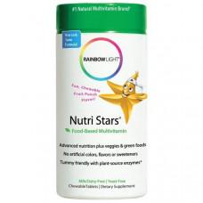 Мультивитамины со вкусом фруктового пунша Rainbow Light Nutri Stars  60 жевательных таблеток