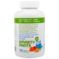 Мультивиткмины для детей с клетчаткой SmartyPants, 120 жевательных таблеток