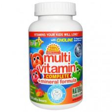 Yum-Vs, Формула мультивитамины + минералы, Вкус восхитительных фруктов, 120 жевательных мишек