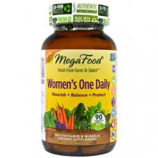 MegaFood, Цельнопищевой мультивитаминный и минеральный комплекс для женщин, 90 таблеток