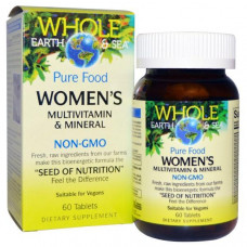 Natural Factors, Пищевая добавка Непочатое море и земля, мультивитаминный и минеральный комплекс для женщин, 60 таблеток