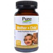 Pure Essence, Mother & Child, Формула Master PostNatal, 120 таблеток
