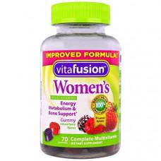 Мультивитамины для женщин VitaFusion натуральный вкус ягод, 70 жевательных таблеток