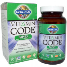Garden of Life, Vitamin Code Family, 120 вегетарианских капсул