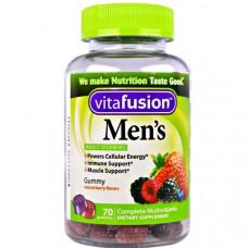 Мультивитамины для мужчин,  VitaFusion, натуральный вкус ягод, 70 жевательных таблеток