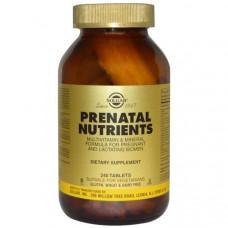 Мультивитамины и мультиминералы для беременных, Solgar, Prenatal Nutrients, 240 таблеток