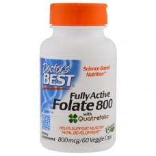 Doctors Best, Активный фолат 800, 800 мкг, 60 капсул в растительной оболочке