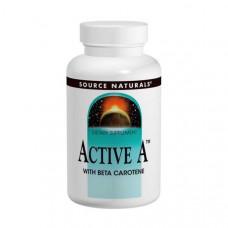Витамины для глаз Active A Source Naturals,  25,000 IU, 120 Таблеток