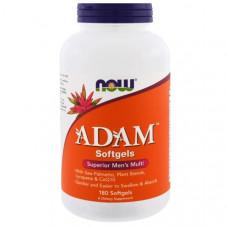 Витамины для мужчин Now Foods, ADAM, мужской поливитамин высшего класса, 180 желатиновых капсул