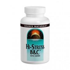 Мультивитамины от стресса Source Naturals Hi-Stress B&C 120 таблеток