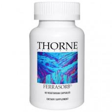 Thorne Research, Ferrasorb, 60 вегетарианских капсул