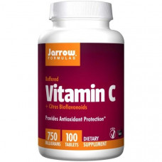 Jarrow Formulas, Буферизованный витамин C + биофлавоноиды цитрусовых, 750 мг, 100 таблеток