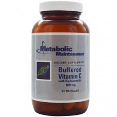 Metabolic Maintenance, Буферизованный витамин C с биофлавономдами, 1000 мг, 90 капсул