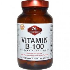 Olympian Labs Inc., Витамин B-100, 90 таблеток