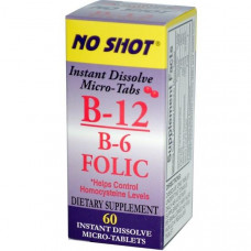 Superior Source, Витамин B-12/B-6 и фолиевая кислота, 60 таблеток