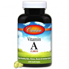 Витамин A Vitamin A Carlson Labs 10000 МЕ 250 капсул