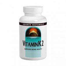 Source Naturals, Витамин К2, 100 мкг, 60 таблеток