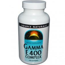 Source Naturals, Комплекс гамма E 400, 120 мягких капсул