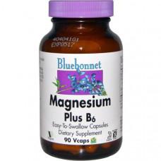 Магний плюс B6 Bluebonnet Nutrition, 90 капсул