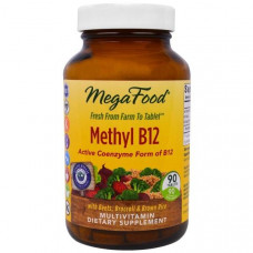 MegaFood, Метилкобаламин B12, 90 таблеток