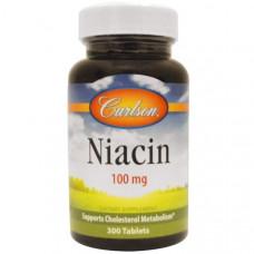 Carlson Labs, Ниацин, 100 мг, 300 таблеток