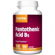 Витамин В5 пантотеновая кислота  Jarrow Formulas 500 мг, 100 капсул