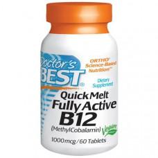 Витамин В12 метилкобаламин (Fully active B12 methylcobalamin) Doctors Best, 1000 мкг, 60 таб.