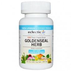 Eclectic Institute, Трава гидрастиса (желтокорня), сырая, 300 мг, 100 вегетарианских капсул без ГМО