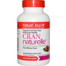 Vibrant Health, Cran Naturelle, 60 вегетарианских растительных капсул