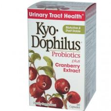 Wakunaga - Kyolic, Kyo-Dophilus, пробиотики, с экстрактом клюквы, 60 капсул