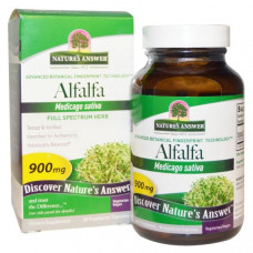 Natures Answer, Полный спектр, люцерна, 900 мг, 90 растительных капсул