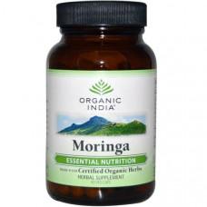 Organic India, Моринга, 90 растительных капсул