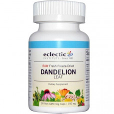 Eclectic Institute, Лист одуванчика, 150 мг, 90 растительных капсул без ГМО