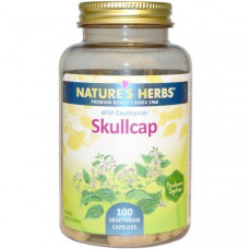 Natures Herbs, Шлемник, 100 растительных капсул