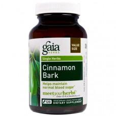Gaia Herbs, Кора коричного дерева, 120 жидких капсул на растительной основе