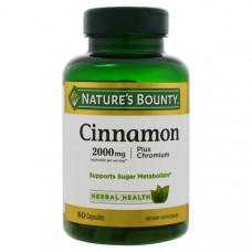 Natures Bounty, Cinnamon, Plus Chromium, 2000 mg, 60 Capsules