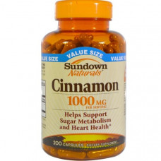 Sundown Naturals, Корица, 1000 мг, 200 капсул