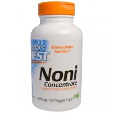 Doctors Best, Концентрат нони, 650 мг, 120 вегетарианских капсул