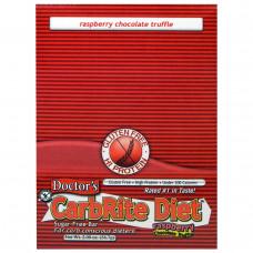 Universal Nutrition, Doctors CarbRite Diet, батончик без сахара, малина, шоколад и трюфель, 12 батончиков, по 2 унции (56,7 г) каждый