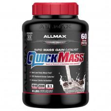 ALLMAX Nutrition, QuickMass, Rapid Mass Gain Catalyst, Cookies & Cream, 6 lbs (2.72 kg)