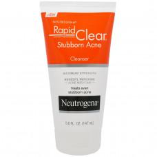 Neutrogena, Rapid Clear, очищающее средство от устойчивых угрей сильнодействующий (147 мл)
