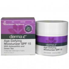 Derma E, Антивозрастное Увлажняющее Солнцезащитное средство SPF 15, 2 унции (56 г)