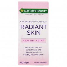 Natures Bounty, Формула с керамозидами для сияющей кожи Optimal Solutions, 40 желатиновых капсул
