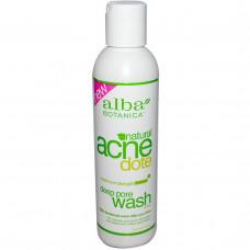Alba Botanica, Natural Acne Dote, средство для очищения пор, без масла, 6 жидких унций (177 мл)