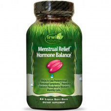 Irwin Naturals, Менструальный комфорт, гормональный баланс, 84 жидкостных желатиновых капсул