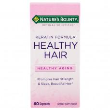 Natures Bounty, Кератиновая формула для здоровых волос Optimal Solutions, 60 капсул